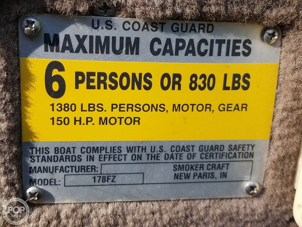 1998 Smoker Craft boat for sale, model of the boat is 18 & Image # 16 of 17