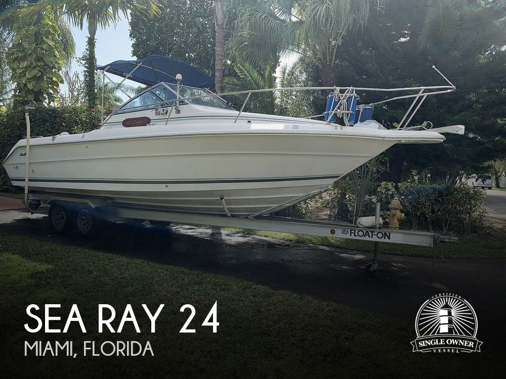 1990 Sea Ray boat for sale, model of the boat is Laguna 24 Flush Deck Cuddy & Image # 1 of 40