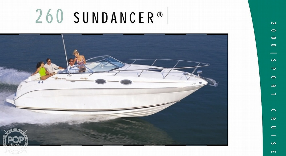 2000 Sea Ray boat for sale, model of the boat is 260 Sundancer & Image # 21 of 40