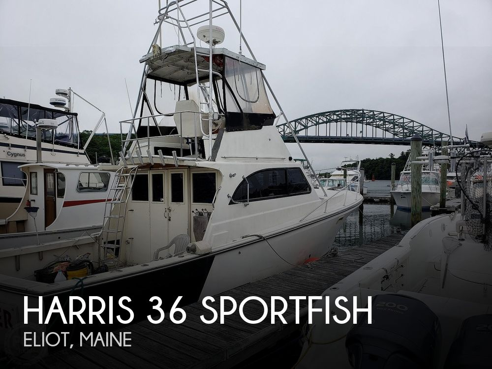 1986 Harris boat for sale, model of the boat is 36 Sportfish & Image # 1 of 40