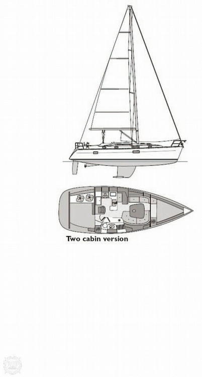 2004 Beneteau boat for sale, model of the boat is 361 & Image # 13 of 40