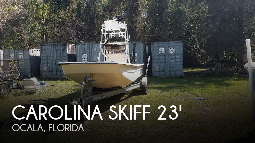 2001 Carolina Skiff boat for sale, model of the boat is 238 DLV & Image # 1 of 41
