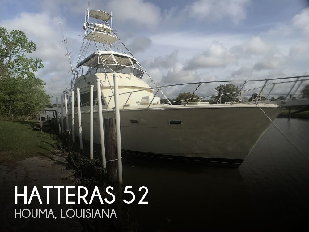 1985 Hatteras boat for sale, model of the boat is 52 Convertible & Image # 1 of 40