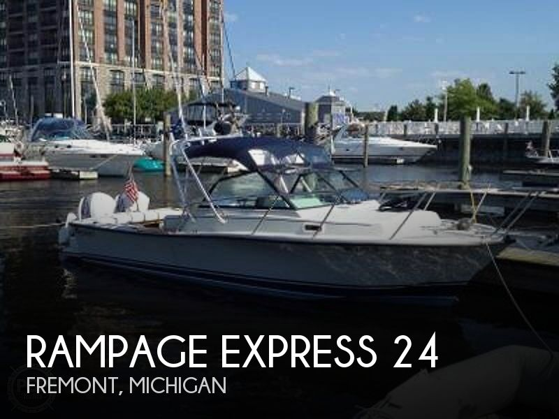 1987 Rampage boat for sale, model of the boat is Express 24 & Image # 1 of 41