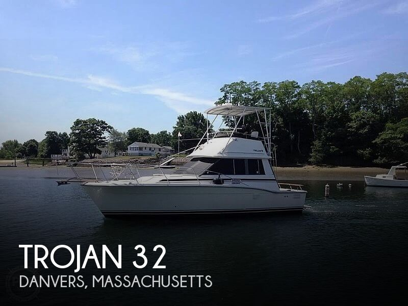 1988 Trojan boat for sale, model of the boat is 32 Sedan Flybridge & Image # 1 of 40