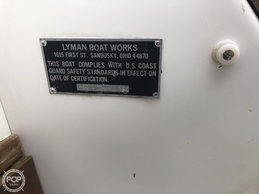 1978 Lyman boat for sale, model of the boat is Fisherman 26 & Image # 39 of 40