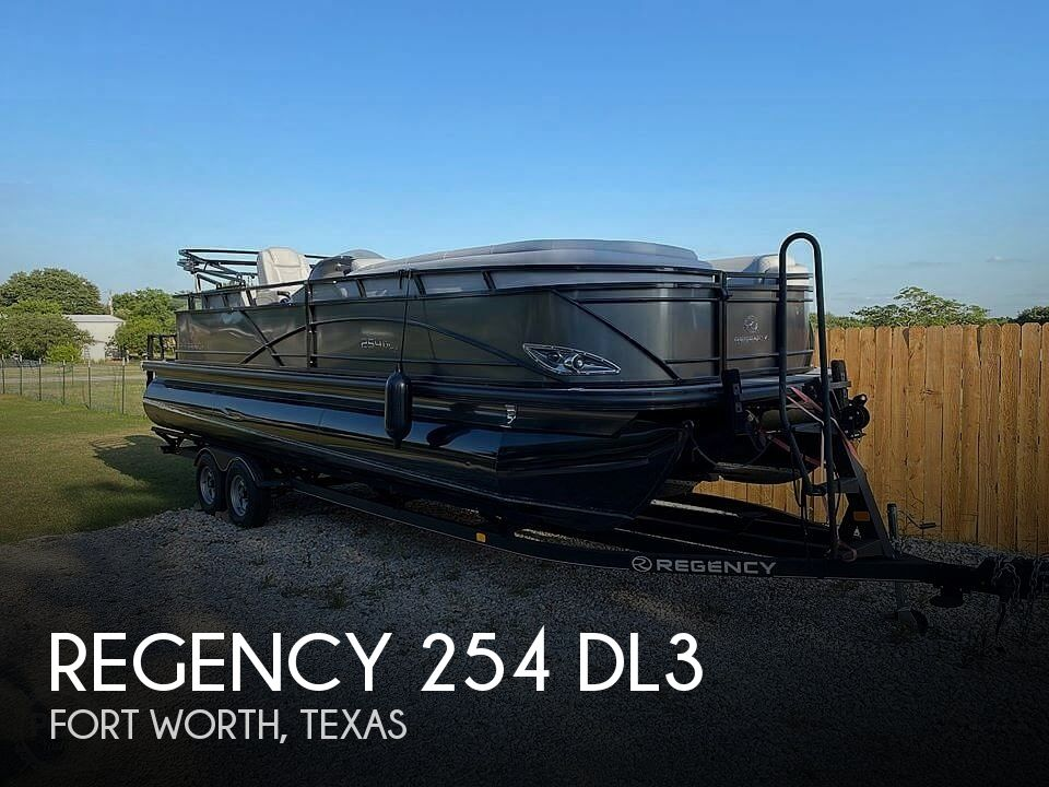 Used Pontoon Boats For Sale in Texas by owner | 2018 Regency 254 Dl3
