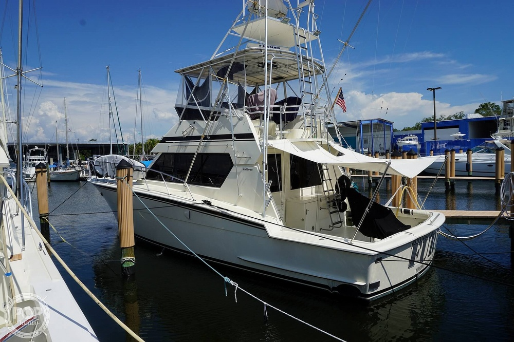 1988 Hatteras boat for sale, model of the boat is 48 Convertible & Image # 4 of 40