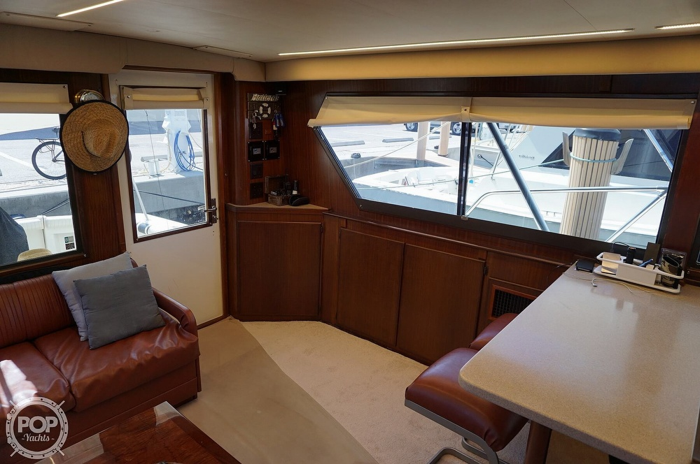 1988 Hatteras boat for sale, model of the boat is 48 Convertible & Image # 7 of 40