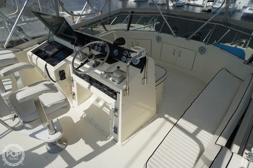 1988 Hatteras boat for sale, model of the boat is 48 Convertible & Image # 27 of 40