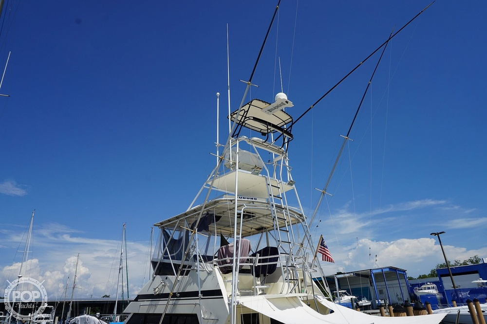1988 Hatteras boat for sale, model of the boat is 48 Convertible & Image # 40 of 40