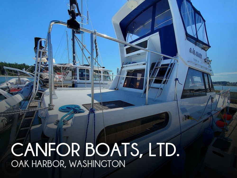 1990 CANFOR BOATS, LTD. WAVE RUNNER 37' for sale
