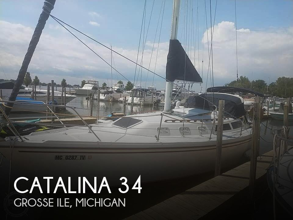 Used Sailboats For Sale in Michigan by owner   1988 Catalina tall rig wing keel c 34