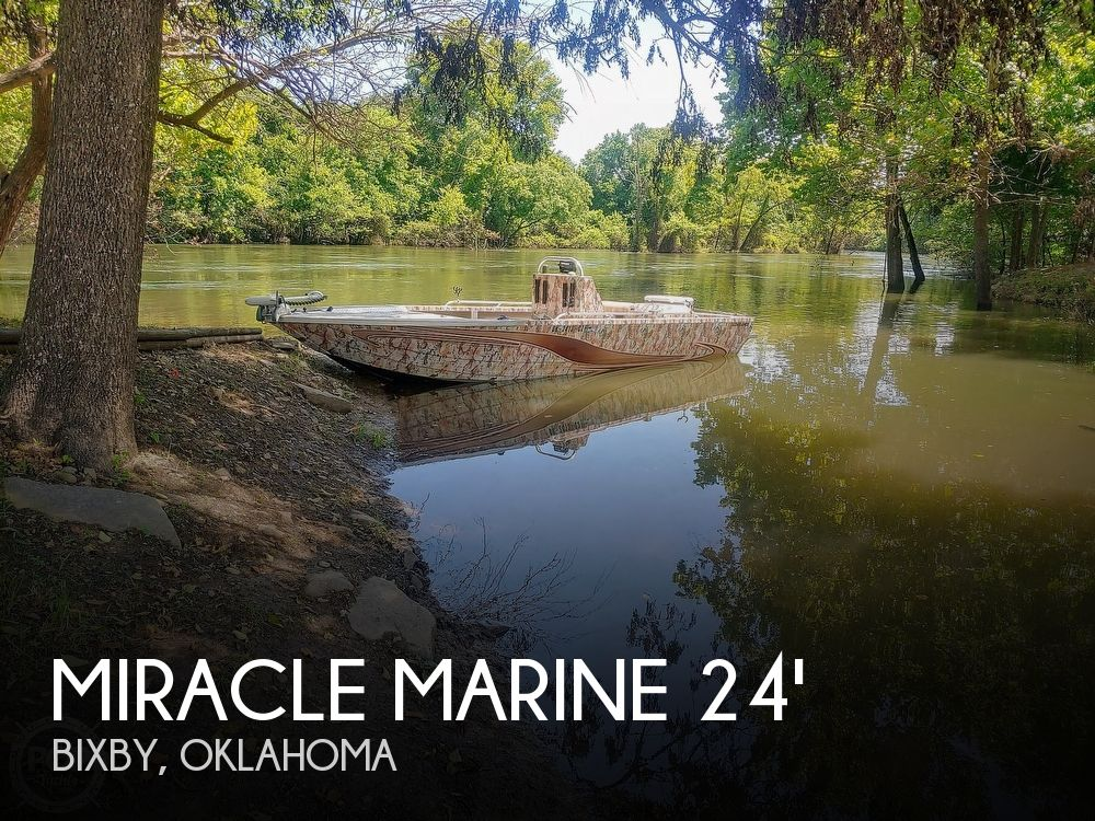 Used Fishing boats For Sale in Oklahoma by owner | 2017 24 foot Miracle Marine River Jet Ranger Recon