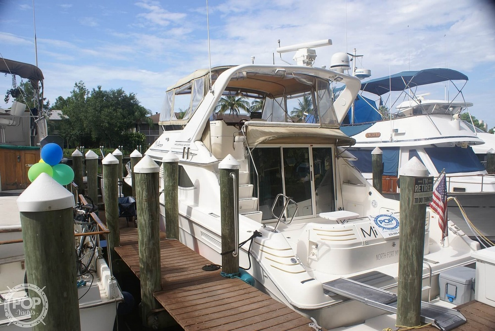 1996 Sea Ray boat for sale, model of the boat is 440 Express Bridge & Image # 6 of 40