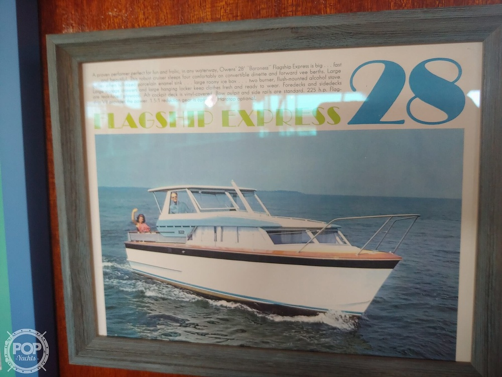 1968 Owens boat for sale, model of the boat is Flagship 28 Express & Image # 40 of 40