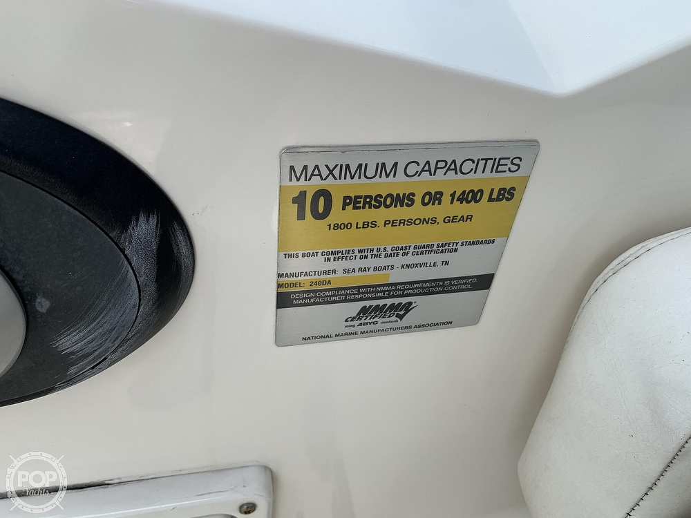 2008 Sea Ray boat for sale, model of the boat is 240 Sundancer & Image # 40 of 40