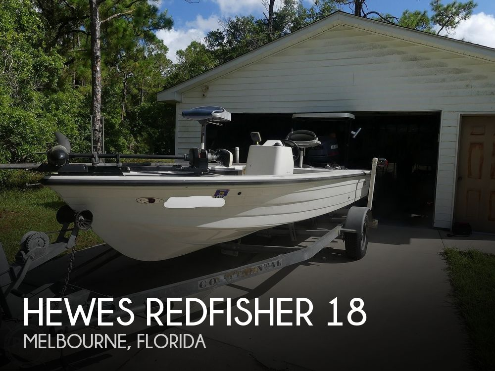 1997 Hewes boat for sale, model of the boat is Redfisher 18 & Image # 1 of 40