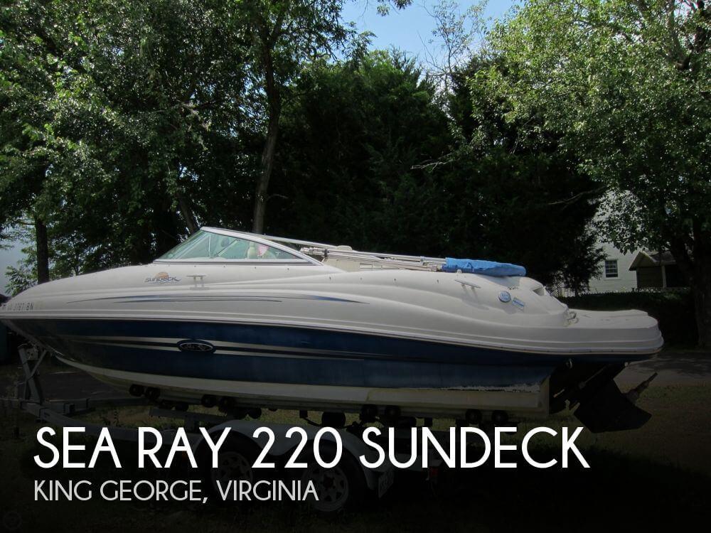 2007 SEA RAY 220 SUNDECK for sale