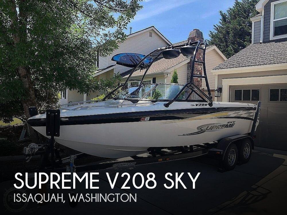 2005 Supreme boat for sale, model of the boat is V208 Sky & Image # 1 of 38