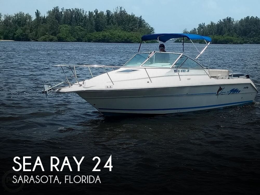 1996 Sea Ray boat for sale, model of the boat is Laguna 24 Flush Deck Cuddy & Image # 1 of 40