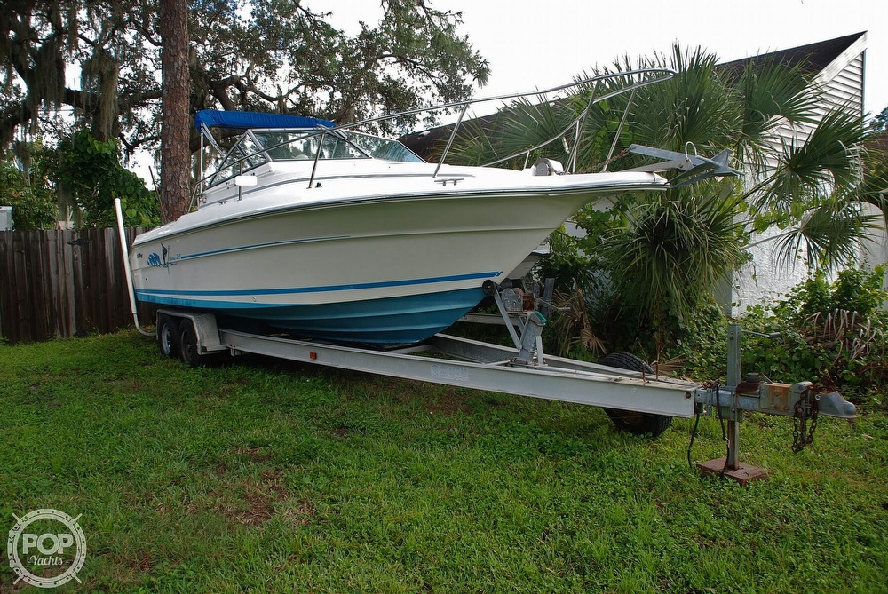1996 Sea Ray boat for sale, model of the boat is Laguna 24 Flush Deck Cuddy & Image # 3 of 40