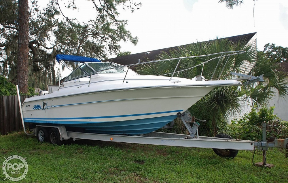 1996 Sea Ray boat for sale, model of the boat is Laguna 24 Flush Deck Cuddy & Image # 4 of 40