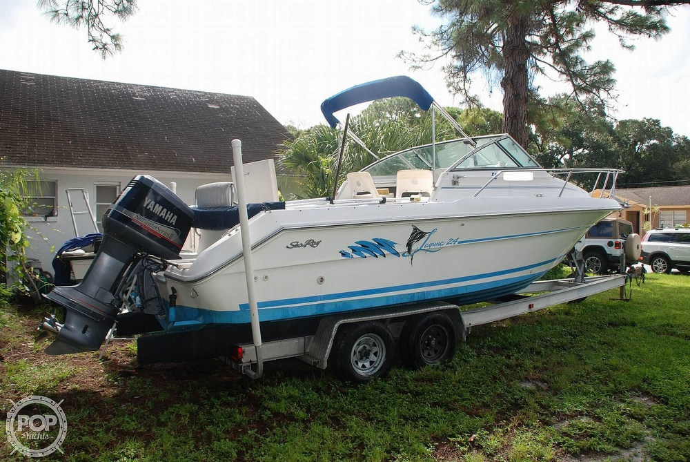 1996 Sea Ray boat for sale, model of the boat is Laguna 24 Flush Deck Cuddy & Image # 6 of 40