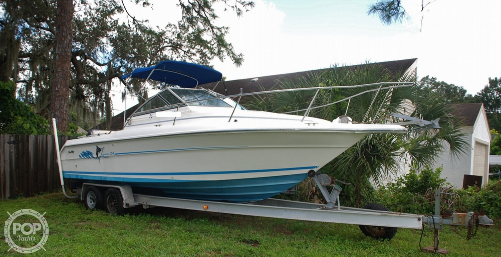 1996 Sea Ray boat for sale, model of the boat is Laguna 24 Flush Deck Cuddy & Image # 37 of 40