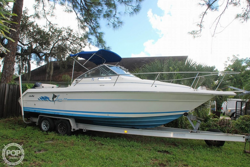 1996 Sea Ray boat for sale, model of the boat is Laguna 24 Flush Deck Cuddy & Image # 38 of 40