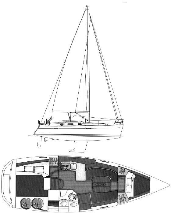 2005 Beneteau boat for sale, model of the boat is 343 Oceanis & Image # 6 of 7