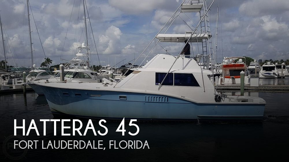 1973 Hatteras boat for sale, model of the boat is 45 & Image # 1 of 40