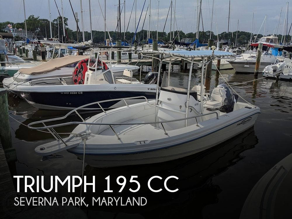 2006 Triumph boat for sale, model of the boat is 195 CC & Image # 1 of 40