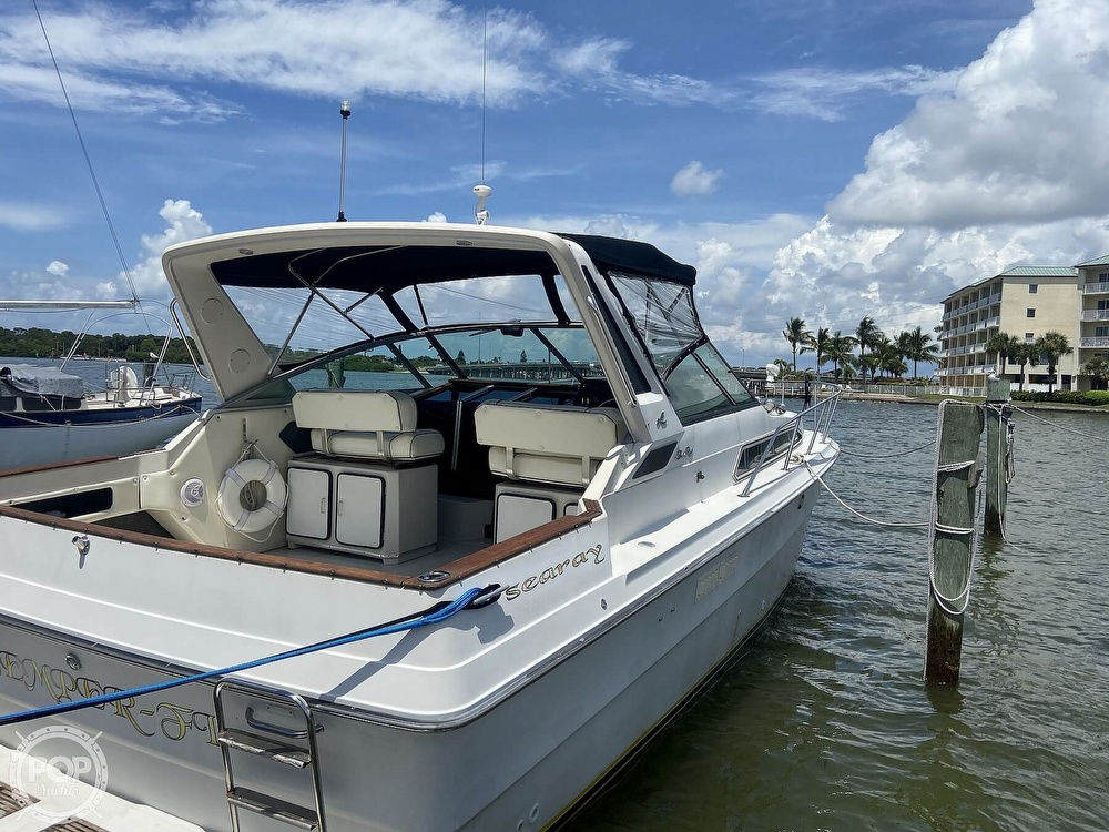 1986 Sea Ray boat for sale, model of the boat is 340 Express & Image # 35 of 40