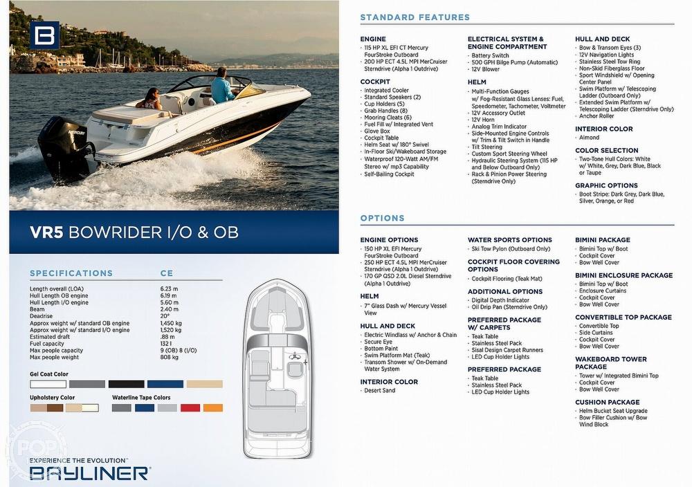 2017 Bayliner boat for sale, model of the boat is Vr5 & Image # 20 of 41