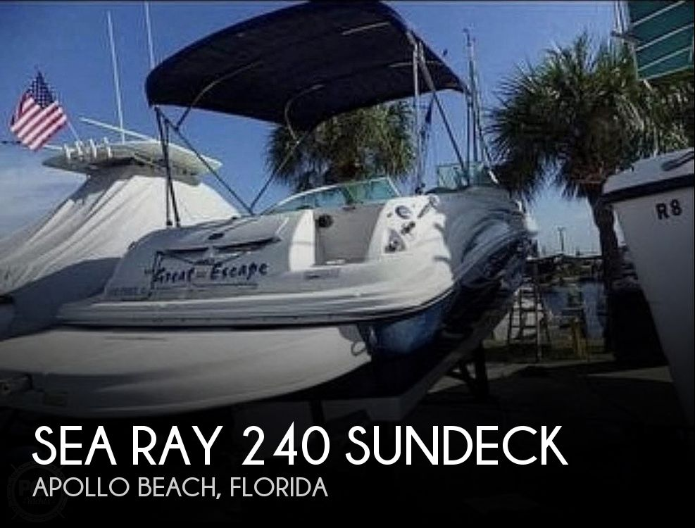 Used Sea Ray Deck Boats For Sale in Florida by owner | 2006 Sea Ray 240 Sundeck