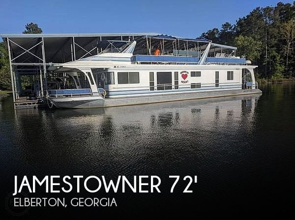 Used Houseboats For Sale in Greenville, South Carolina by owner | 2001 72 foot Jamestowner Houseboat James