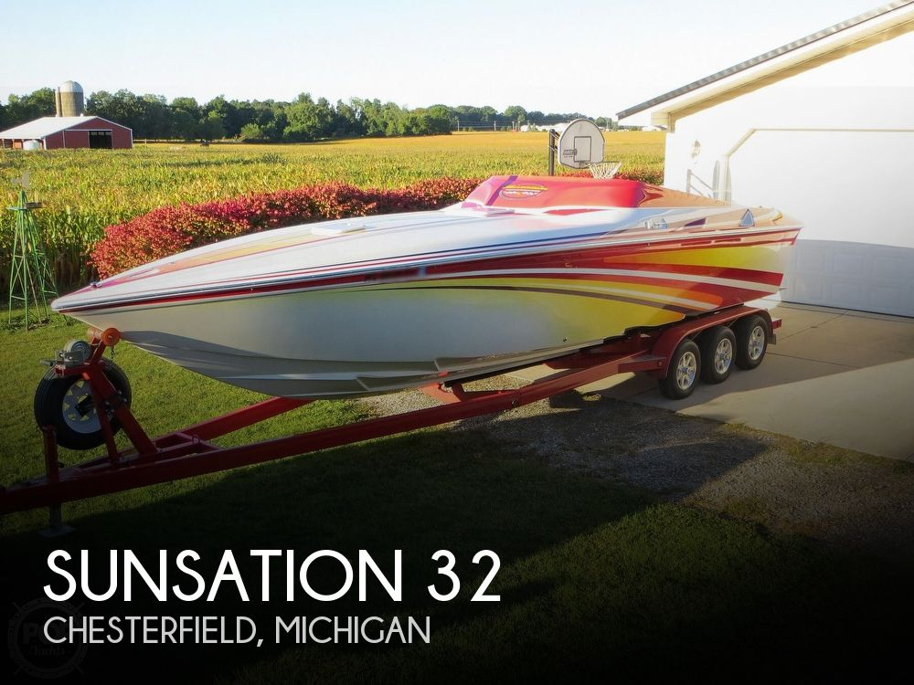 2007 Sunsation boat for sale, model of the boat is 32 Dominator SS & Image # 1 of 40