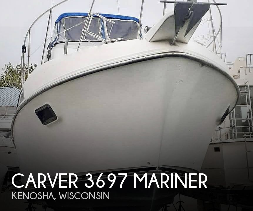 1987 Carver boat for sale, model of the boat is 3697 Mariner & Image # 1 of 40