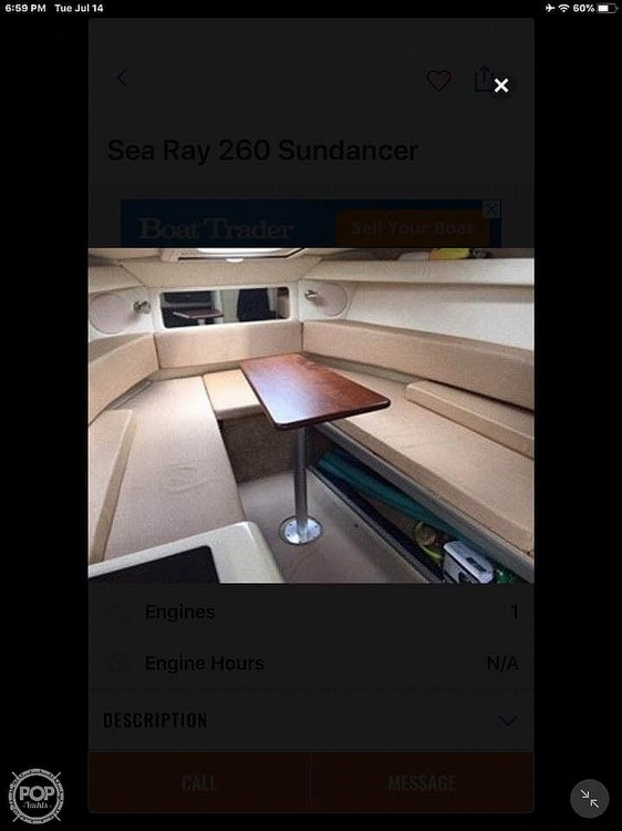 2011 Sea Ray boat for sale, model of the boat is Sundancer 260 & Image # 4 of 12