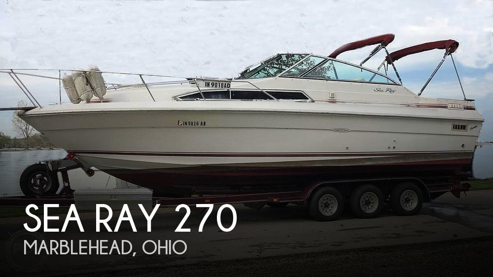 Used Sea Ray Boats For Sale in Ohio by owner | 1987 Sea Ray 270 Sundancer