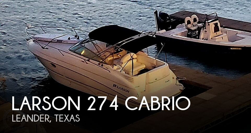 2002 Larson boat for sale, model of the boat is 274 Cabrio & Image # 1 of 1