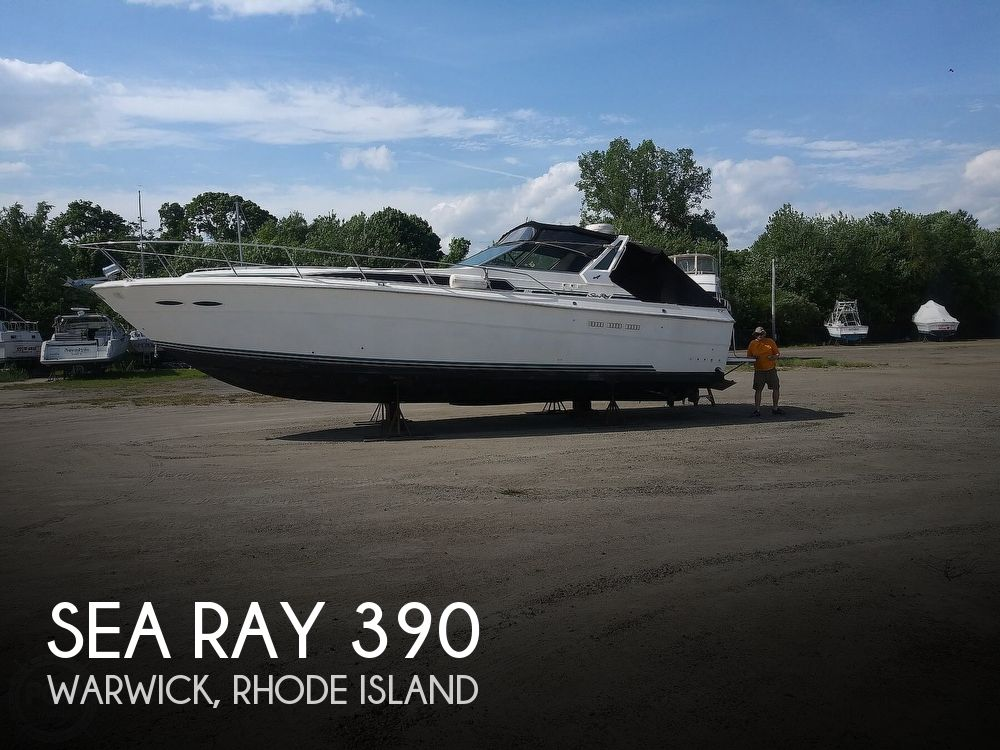 1987 Sea Ray boat for sale, model of the boat is 390 Express Cruiser & Image # 1 of 40