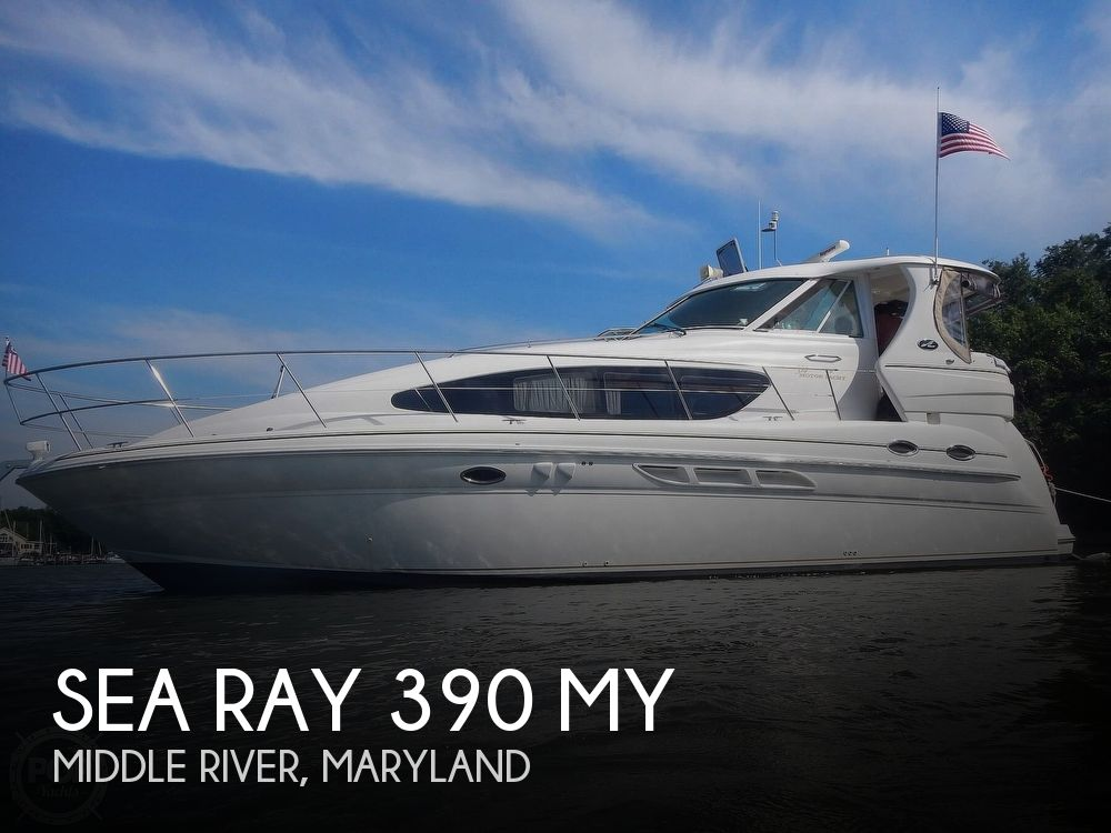 2003 Sea Ray boat for sale, model of the boat is 390 MY & Image # 1 of 40
