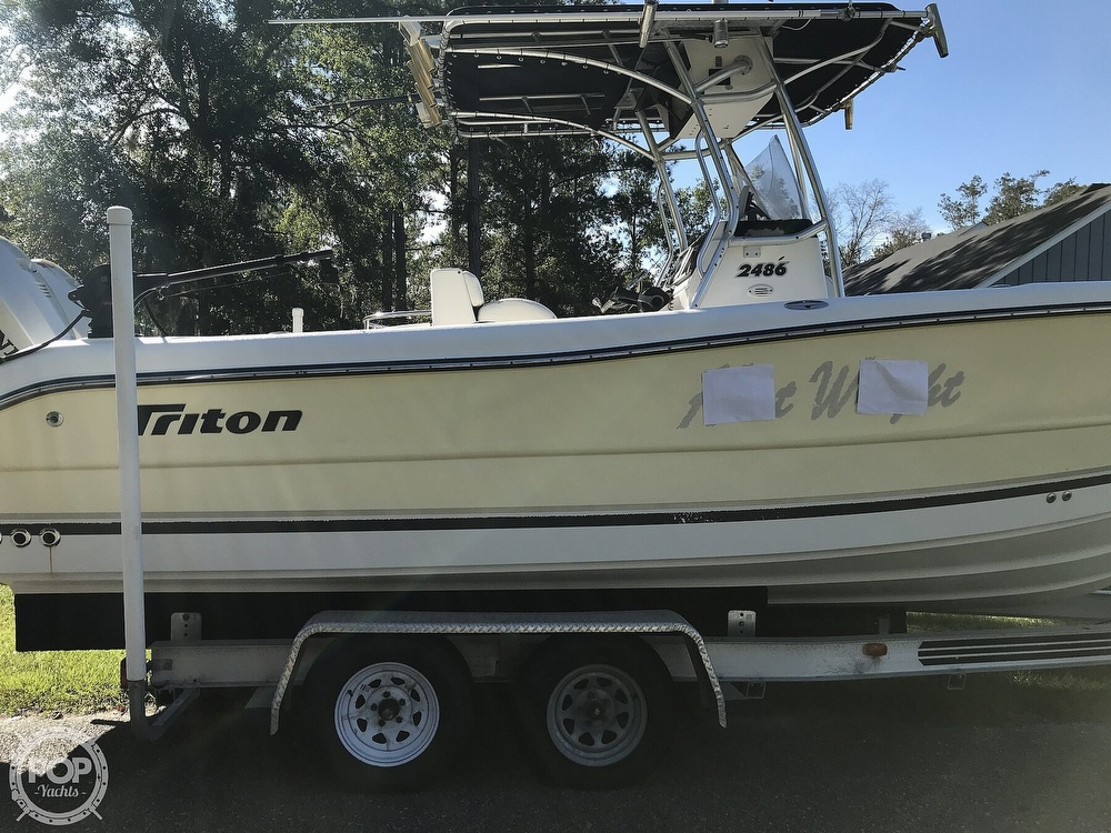 2003 Triton boat for sale, model of the boat is 2486 & Image # 20 of 40
