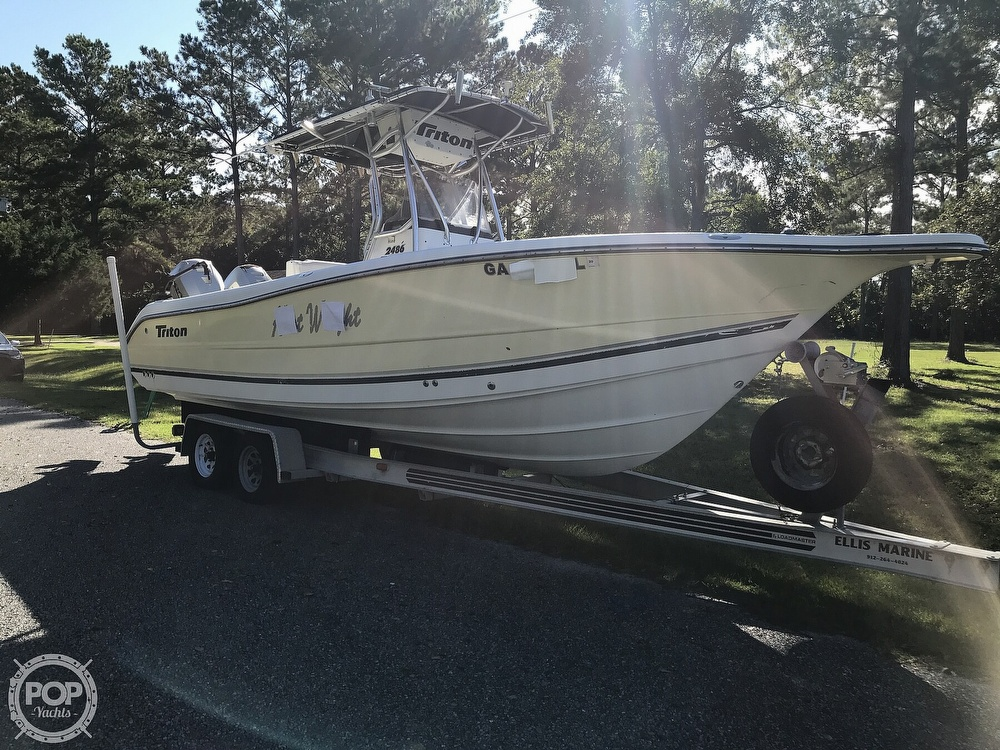 2003 Triton boat for sale, model of the boat is 2486 & Image # 23 of 40