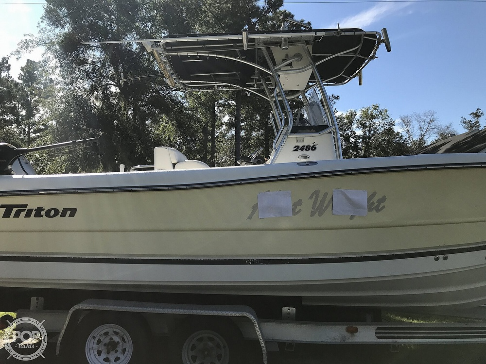 2003 Triton boat for sale, model of the boat is 2486 & Image # 36 of 40