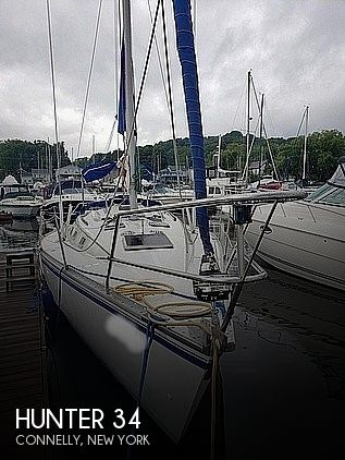 1984 Hunter boat for sale, model of the boat is 34 & Image # 1 of 14