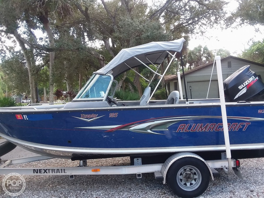 2007 Alumacraft boat for sale, model of the boat is Trophy 185 & Image # 2 of 40