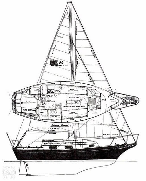 1986 Bayfield Yachts boat for sale, model of the boat is 29 & Image # 20 of 40